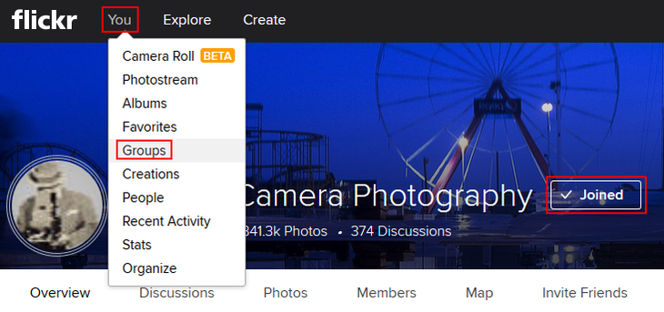 How to leave a Flickr group