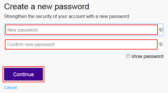Changing your Flickr password