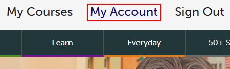 Techboomers My Account button