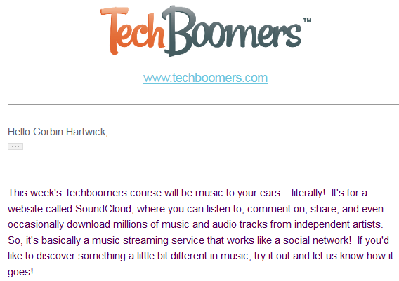 Techboomers newsletter announcements