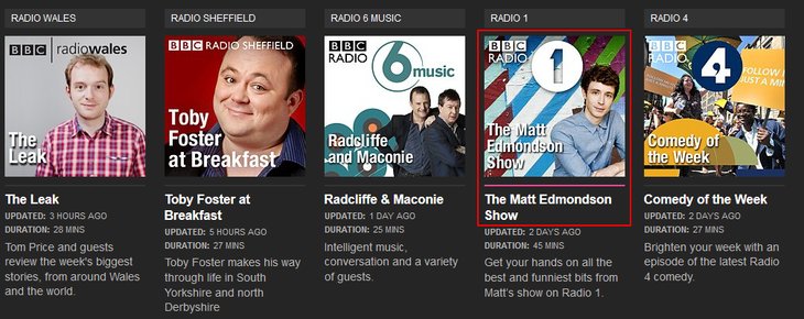 How to select a BBC iPlayer Radio podcast to listen to