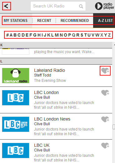 How to browse other available BBC iPlayer Radio app stations