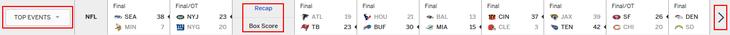 ESPN.com score ticker