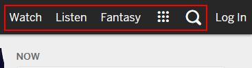 ESPN.com watch, listen, fantasy, and search