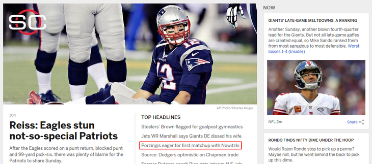 ESPN.com new and featured content