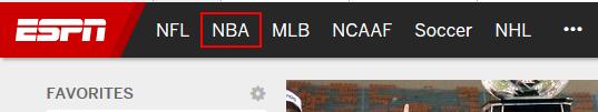 Access the ESPN.com NBA section