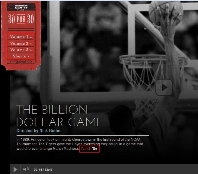 ESPN.com 30 for 30 films