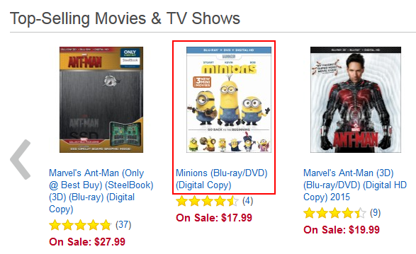 Choosing a BestBuy.com item to view