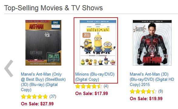 Choosing a BestBuy.com item to view