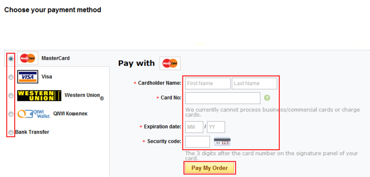 How to pay for your AliExpress order
