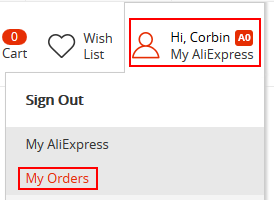 How to view your AliExpress orders