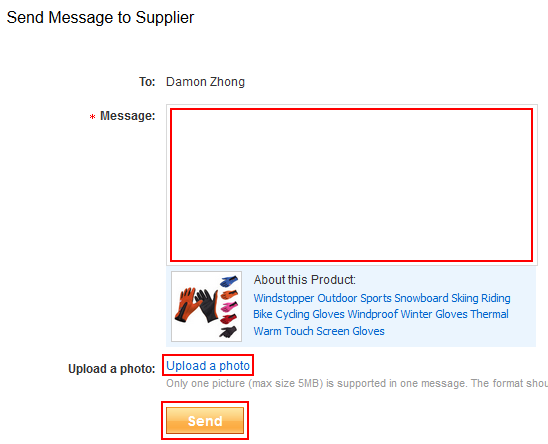 How to send a message to an AliExpress seller