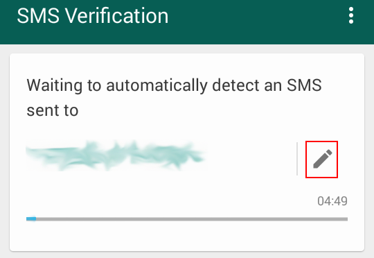 Receiving a verification text from WhatsApp