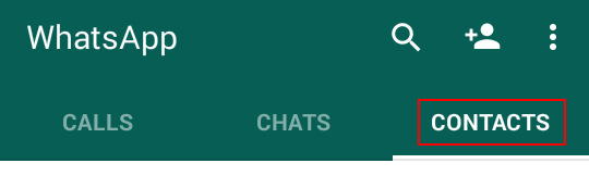 Viewing your WhatsApp contacts