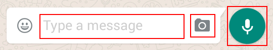 Options for sending a WhatsApp message