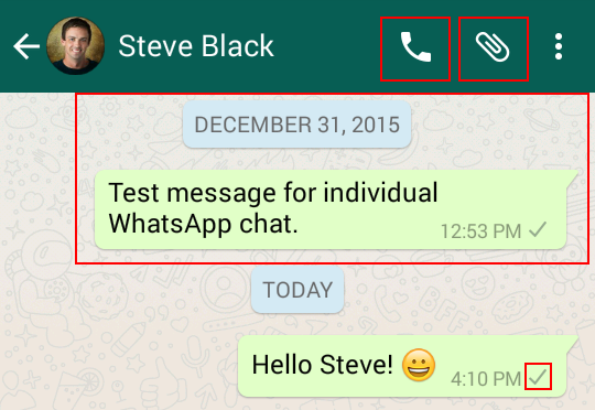 Other WhatsApp chat options
