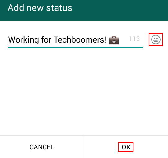 Creating a custom WhatsApp status