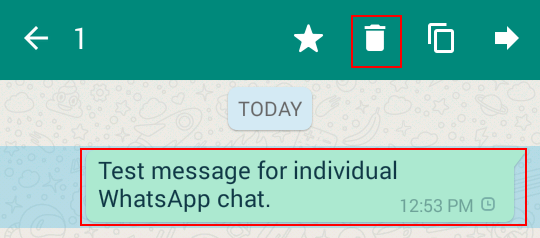 Select and delete WhatsApp messages