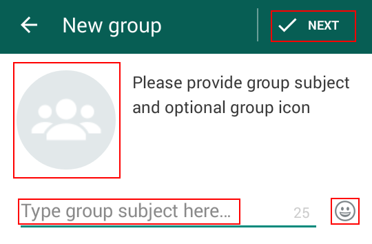 Setting up a WhatsApp group profile