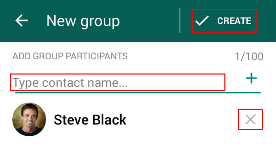 Selecting WhatsApp group members