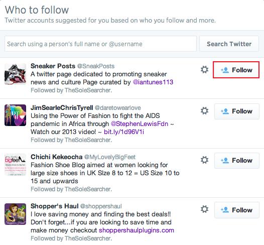 Following a Twitter user