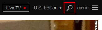 The CNN.com search icon