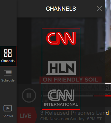 How to switch CNN Go channels