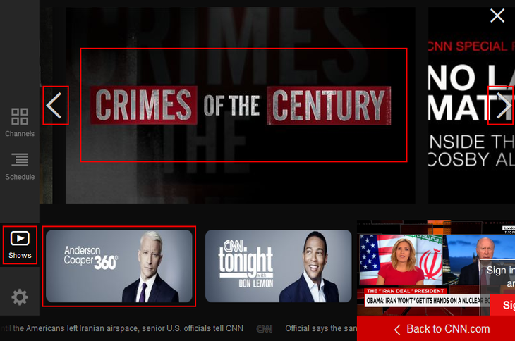How to select a CNN Go program to watch
