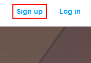 The Kickstarter sign up button