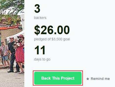 Back a Kickstarter project