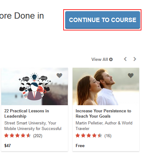 Continue to your Udemy course