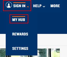 Signing into StubHub