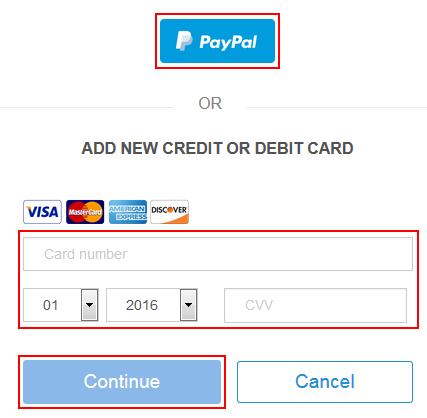 Adding your billing details on StubHub