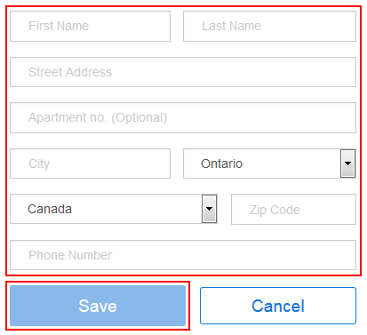 Adding your billing address on StubHub