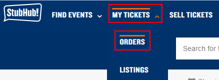 Check the status of your StubHub tickets