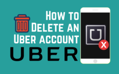 Delete Uber account app