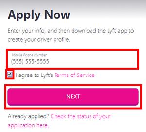 Enter mobile phone number