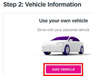Add Vehicle button