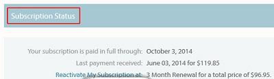 Current eHarmony subscription status