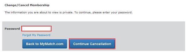 Enter password to delete account