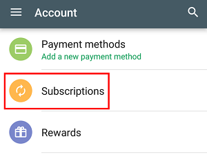 Google Play Subscriptions