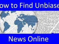 Finding unbiased Internet news header