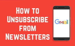 Unsubscribe Gmail newsletters banner
