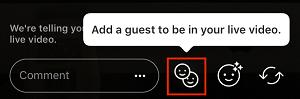 Invite friend to join stream button