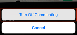 Turn off comments