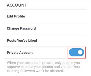 Make stream private button