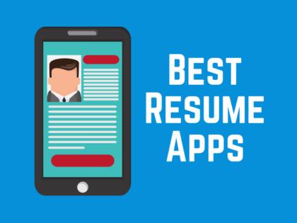 Resume app on a smartphone