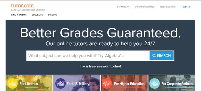 Tutor.com website
