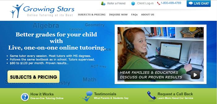 Growing Stars website