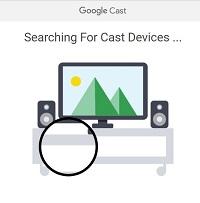 Google Chromecast app on computer